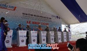 Lễ khởi công lắp đặt  bồn chứa Naphtha - Dự Án Tổ Hợp Hóa Dầu Miền Nam Việt Nam tại Xã Long Sơn, TP. Vũng Tàu.